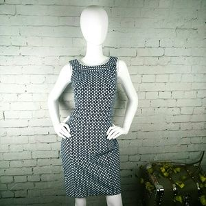 GUC Land's End  geometric sleeveless sheath dress